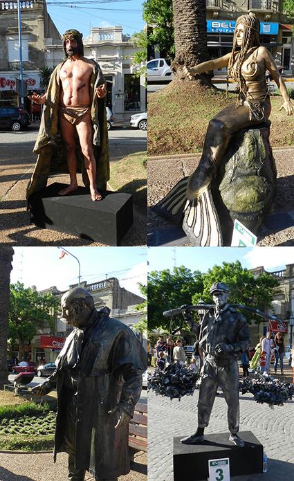 Ganadores concurso de estatuas.